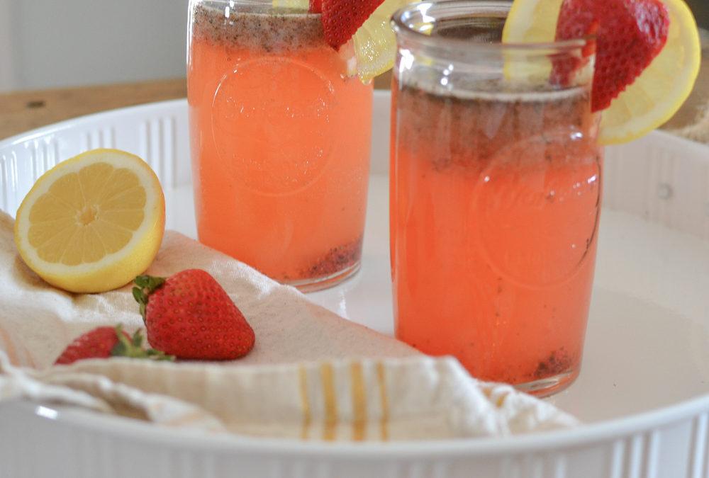 Strawberry Lemon Mojito Mocktail