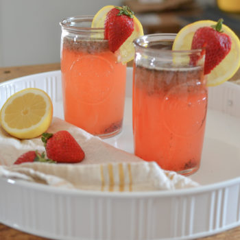 Strawberry Lemon Mojito Mocktail
