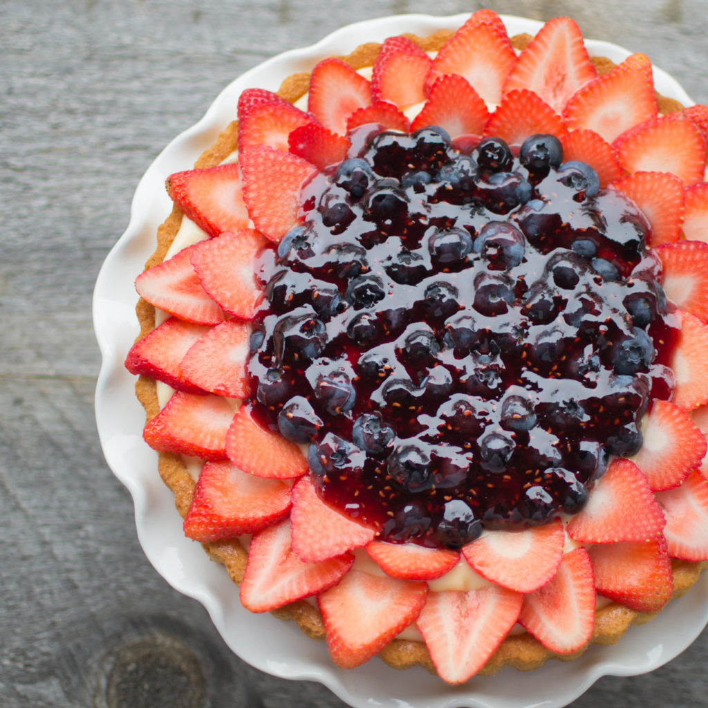 No Bake Easy Fruit Flan