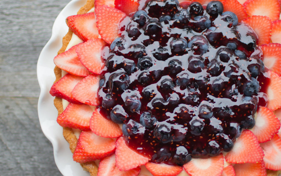 No Bake Easy Fruit Flan