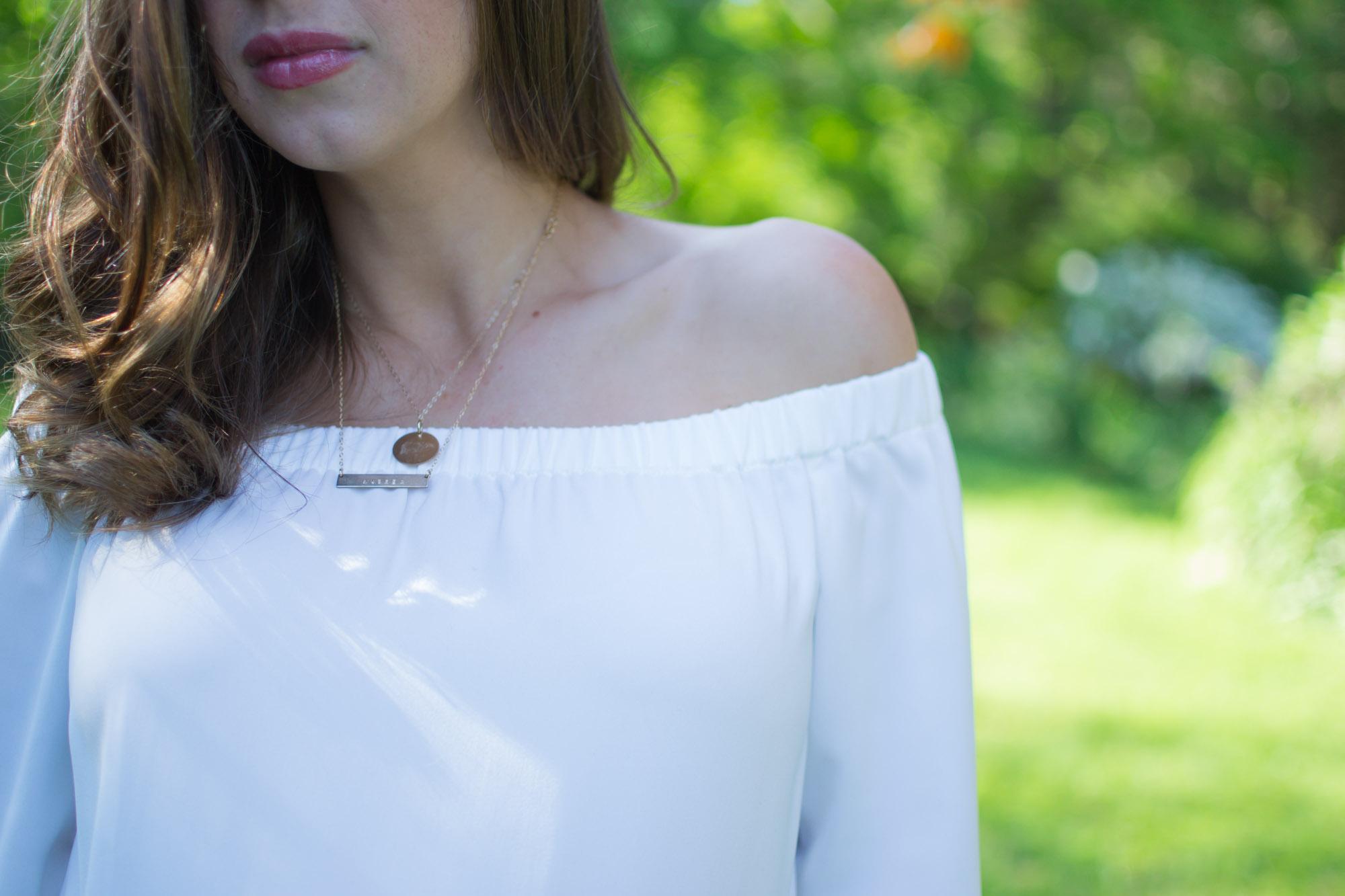 Wild Rosebuds Maternity Off The Shoulder blouse