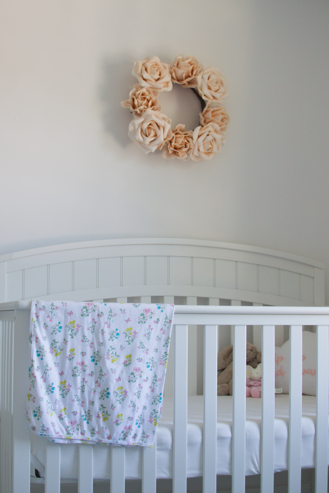 Wild Rosebuds Girls Nursery Room Details
