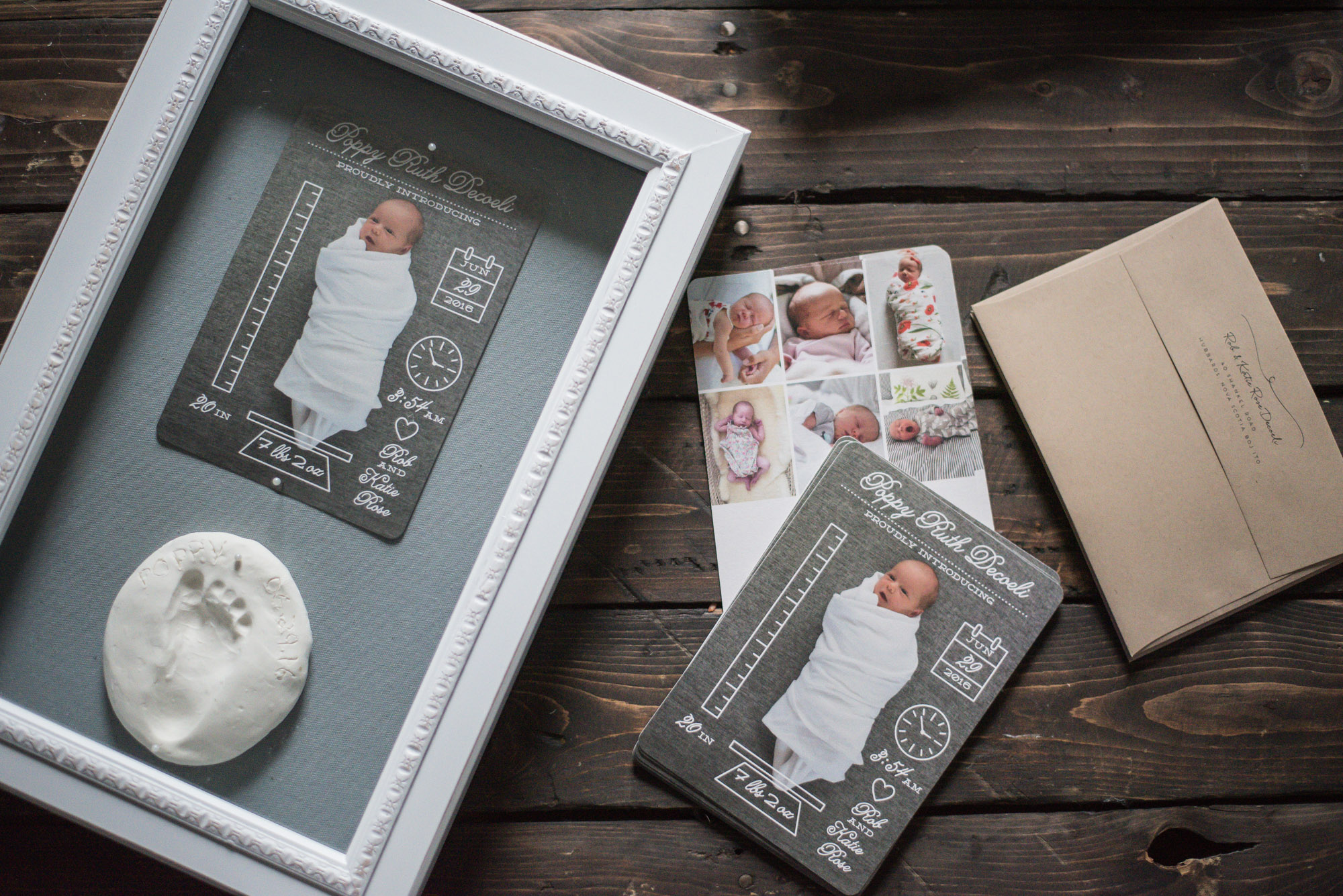 An Announcement Keepsake With Minted