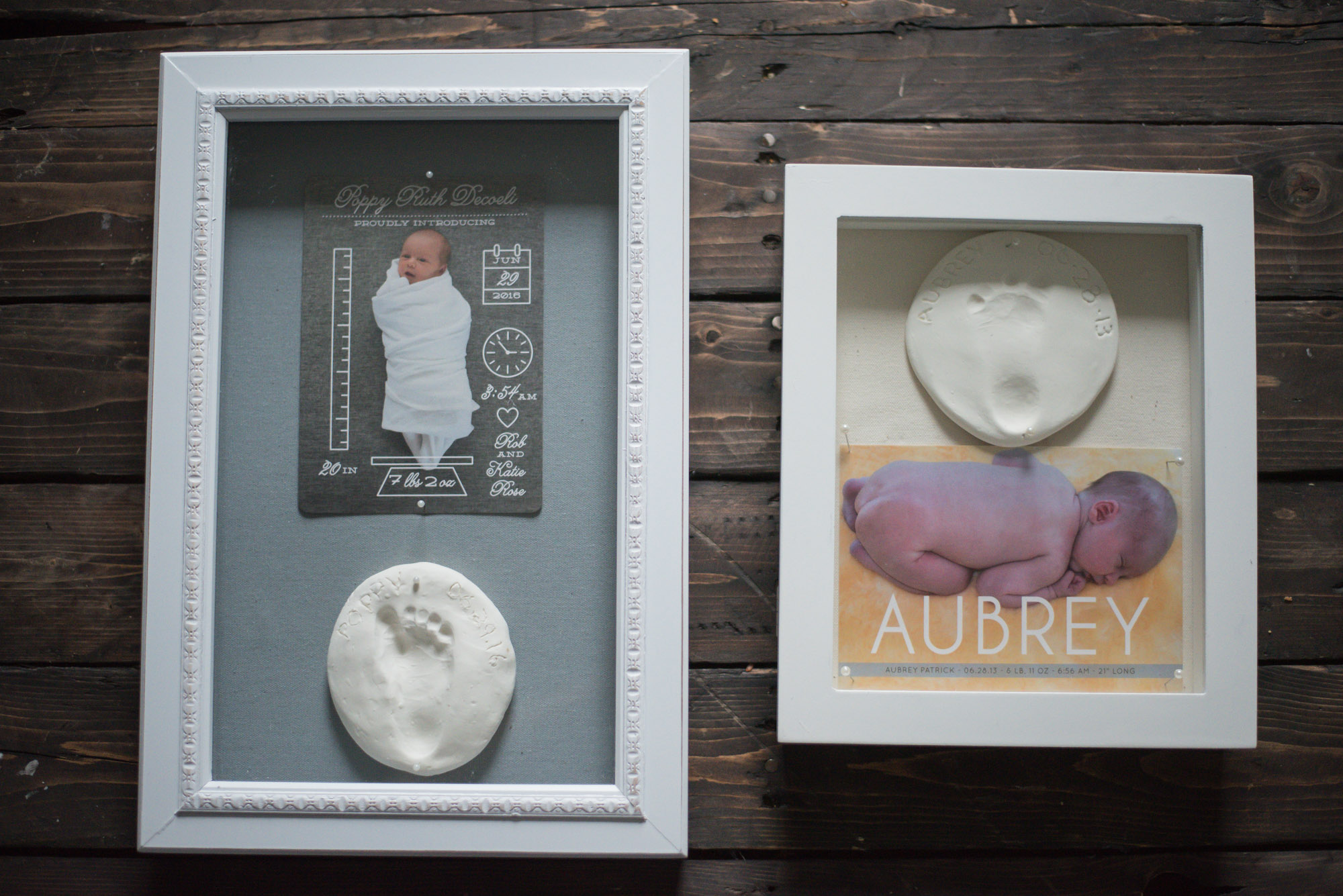 How to make a keepsake for your birth announcements on Wild Rosebuds