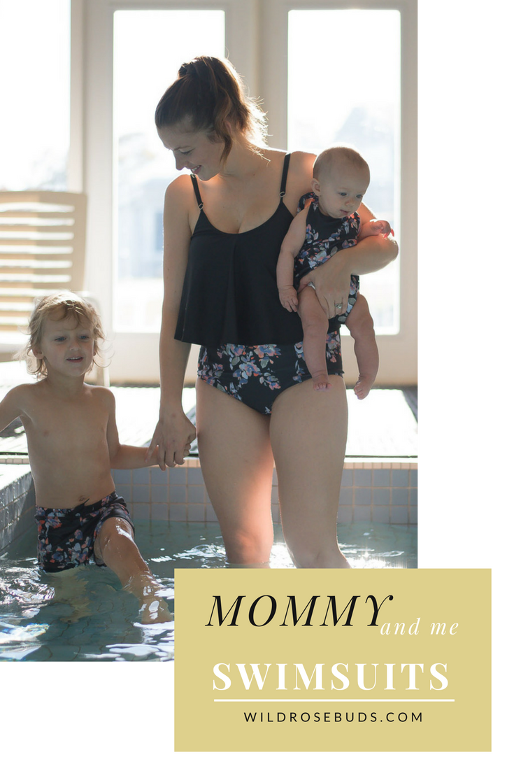 the perfect mommy and me swimsiuts for bot boys and girls in a bunch of fun prints. perfect swimsuits for on vacation