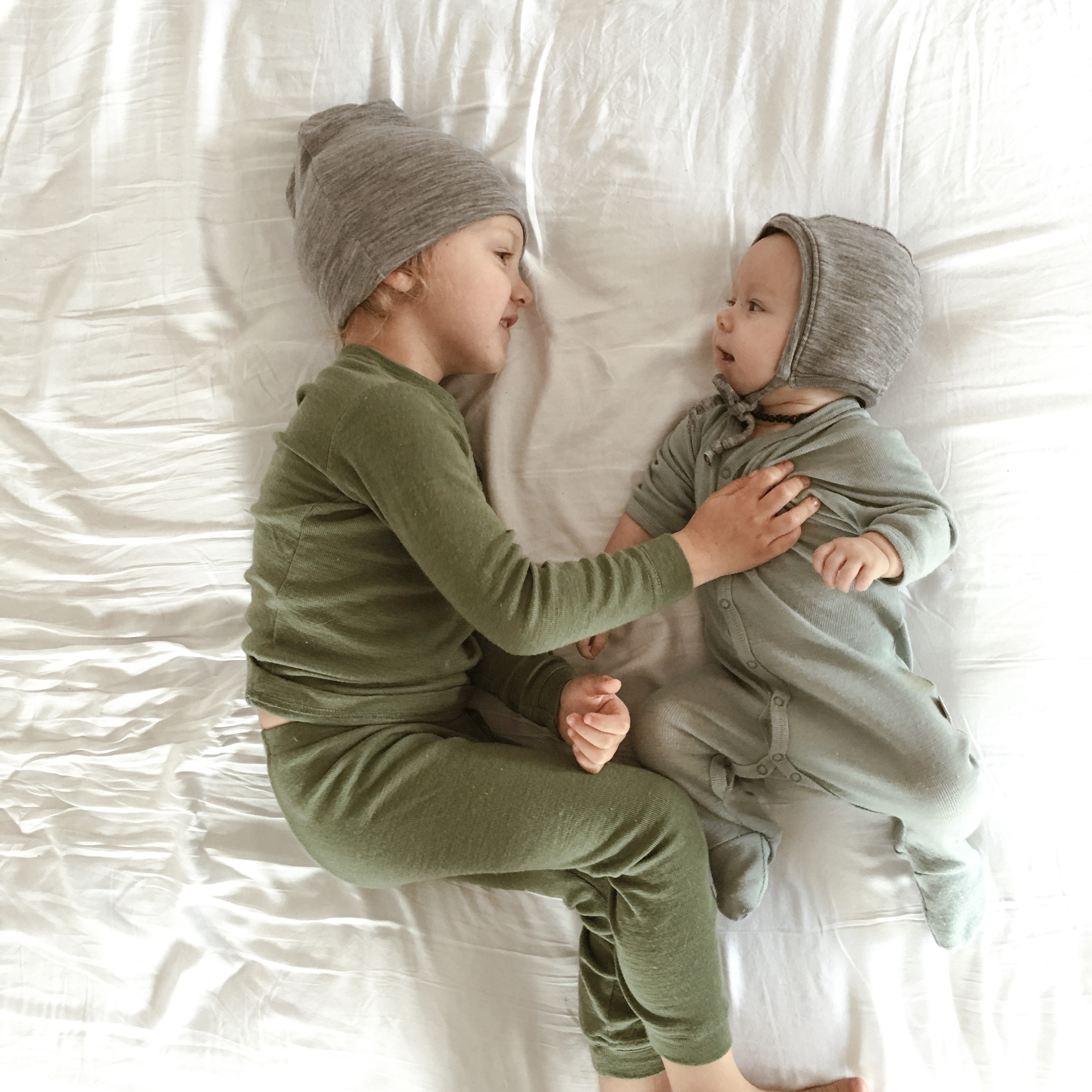 Simple Merino Wool PJ's to help regulate your child's temperature