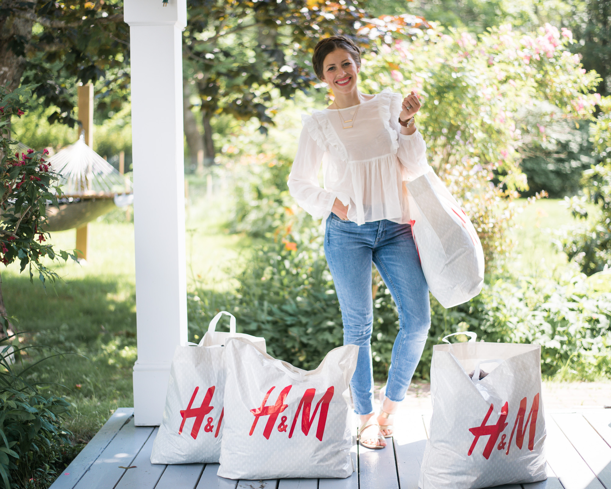 Wild Rosebuds on how to decided what to purge in your closet with H&M