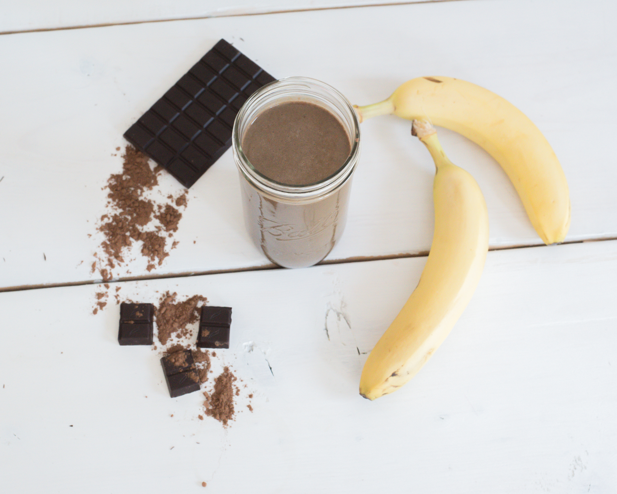 Easy Chocolate Banana Vega Protein Smoothie
