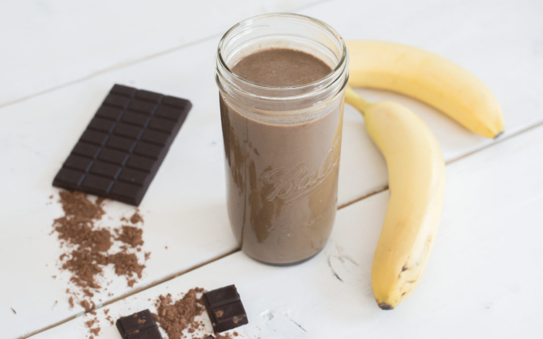 Easy Chocolate Banana Protein Smoothie with Vega