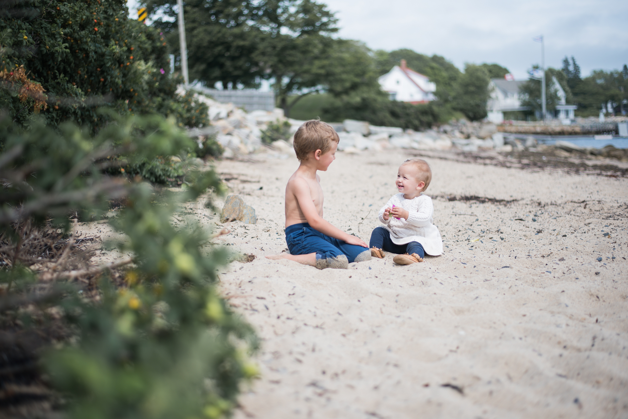 Wild Rosebuds on Parenting Alone for a few months. Beach Family Photos with two kids