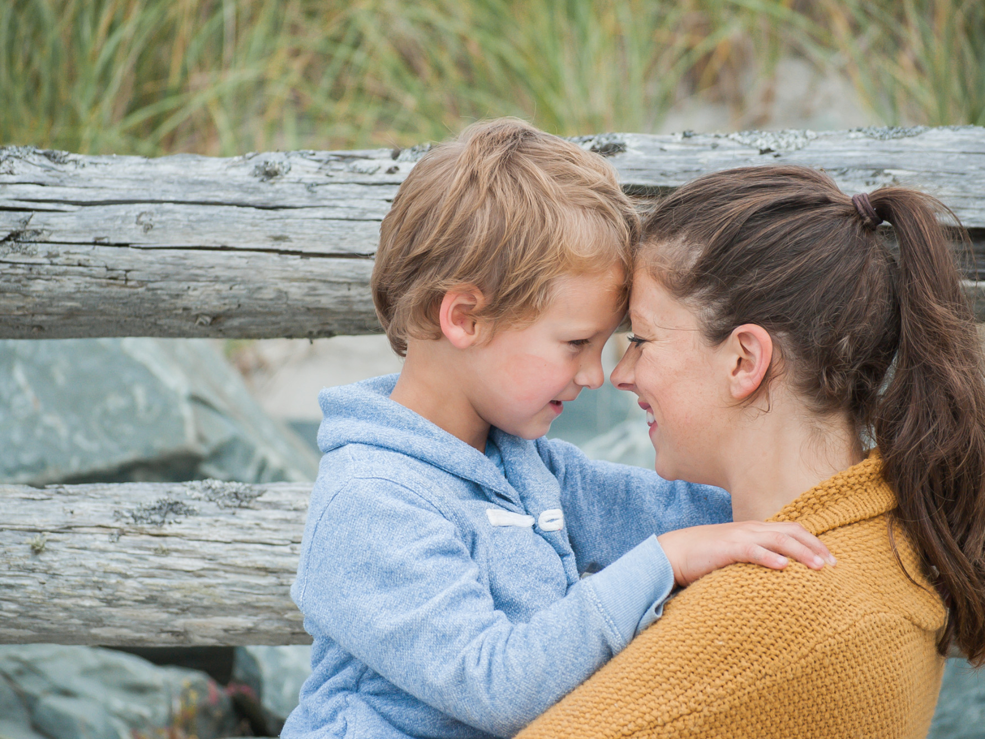 Wild Rosebuds: Mother and Son moments on Crescent Beach