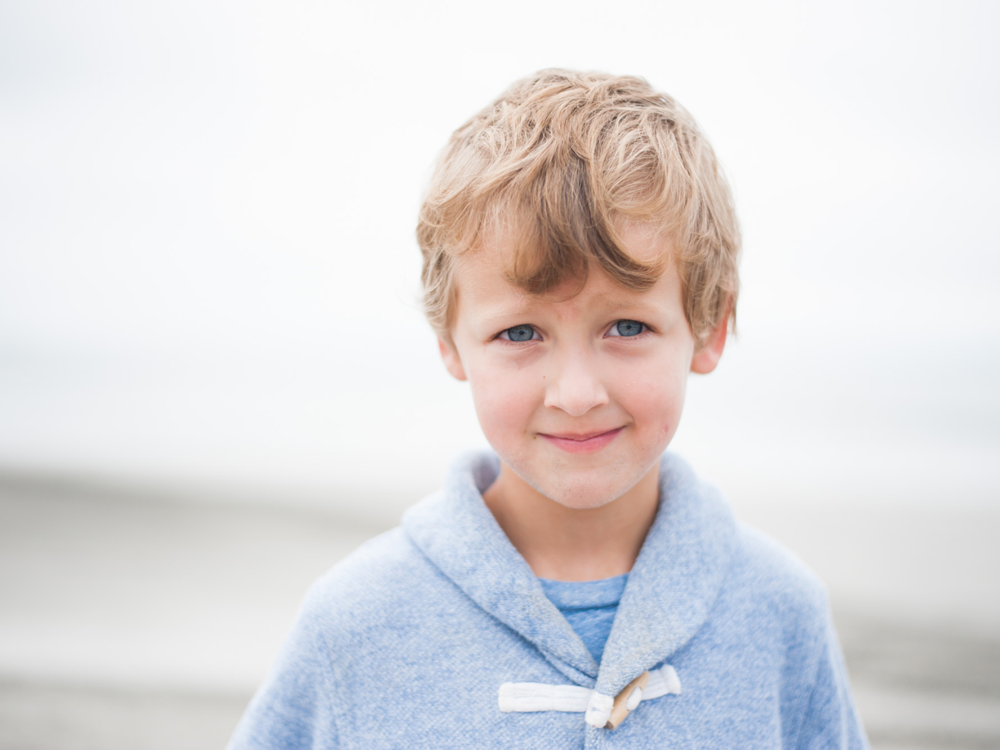 Wild Rosebuds: Boy Headshots on Crescent Beach
