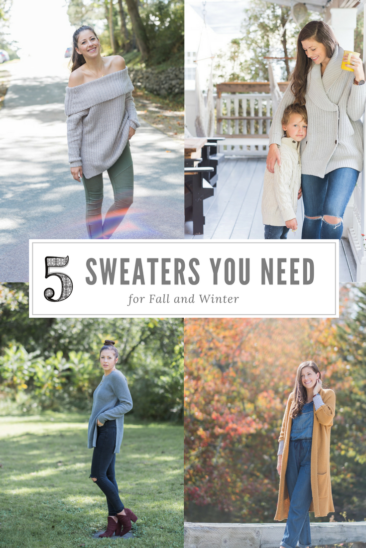 The 5 Sweaters You Need For Fall and Winter