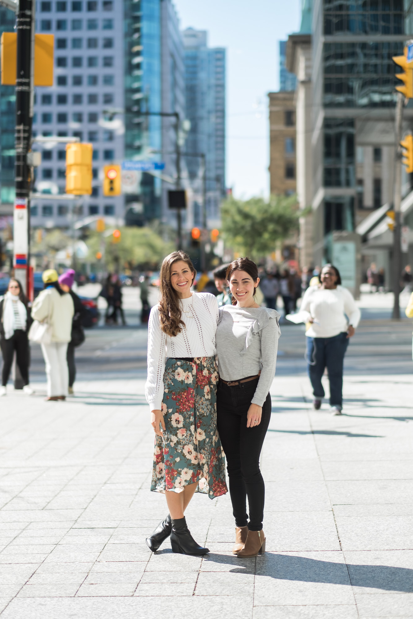 Wild Rosebuds Downtown toronto with Keisha of Loving Littles Blog for BlogPodium