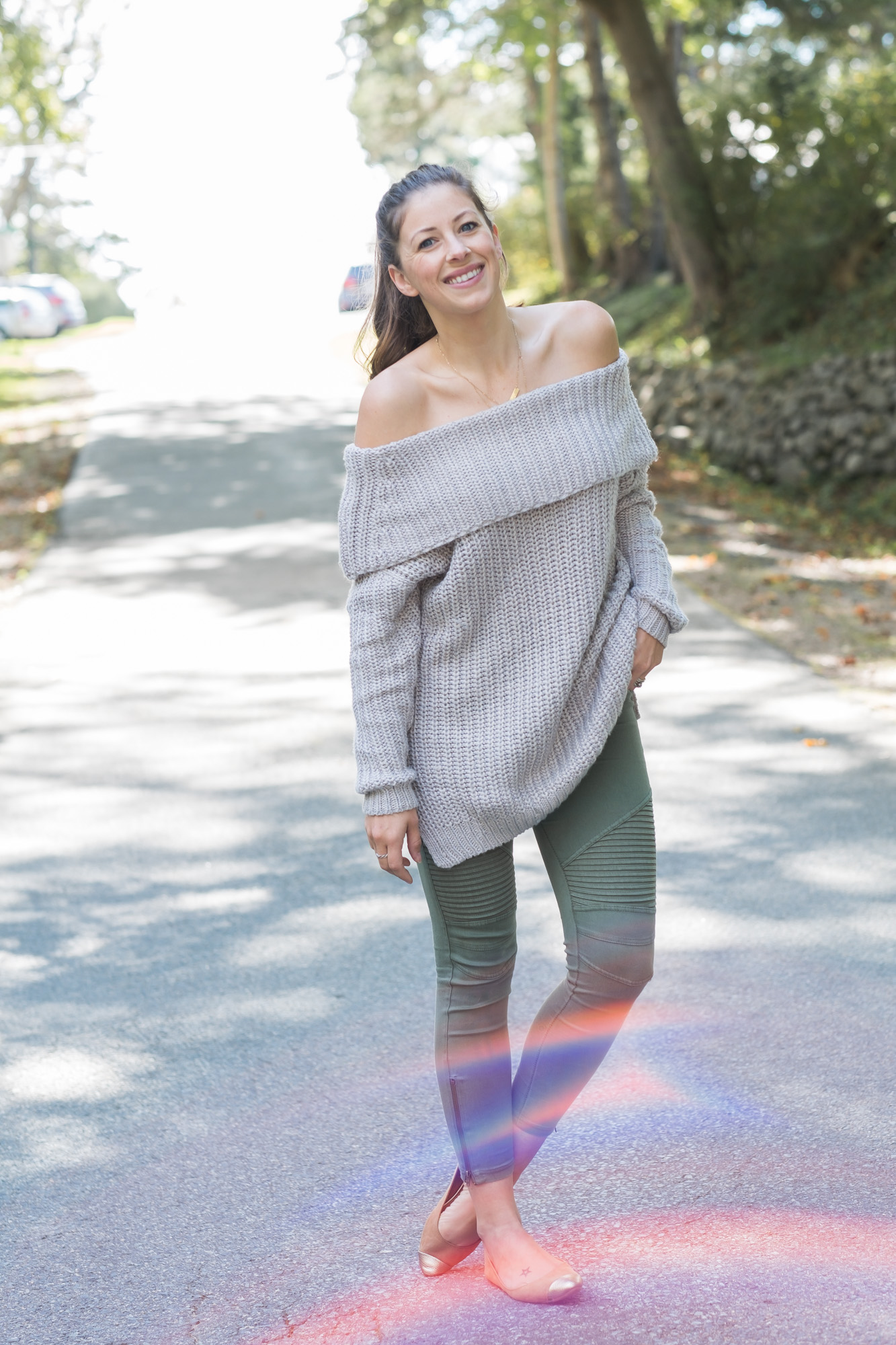 Wild Rosebuds| 5 Sweaters you need| off the shoulder knit sweater