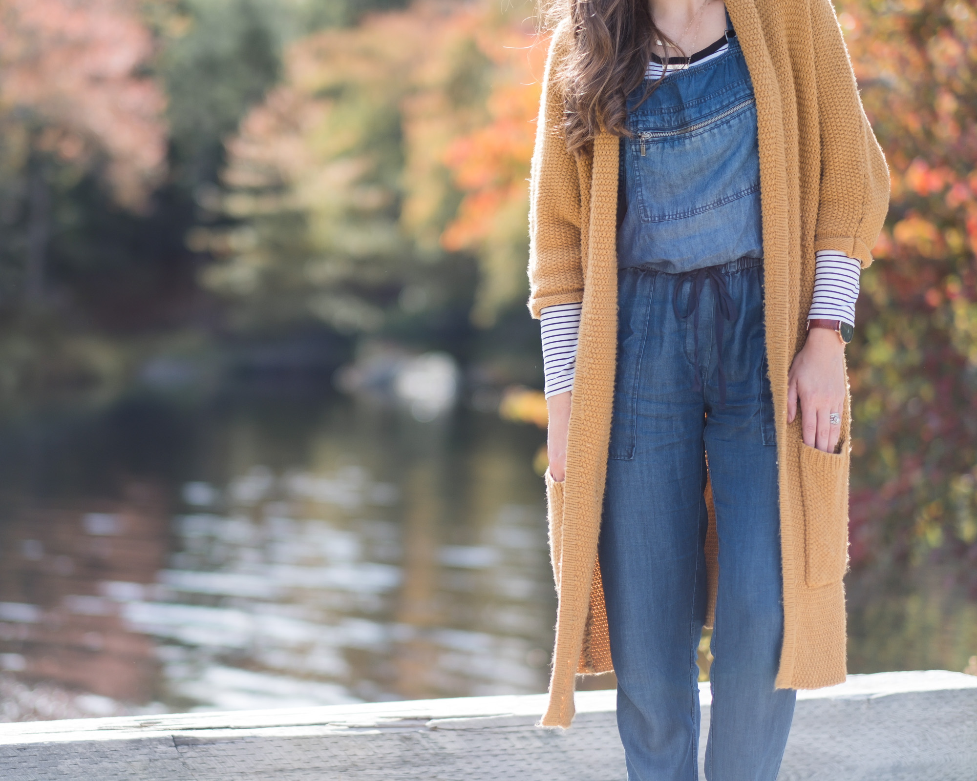 Wild Rosebuds| how to style a long open cardigan