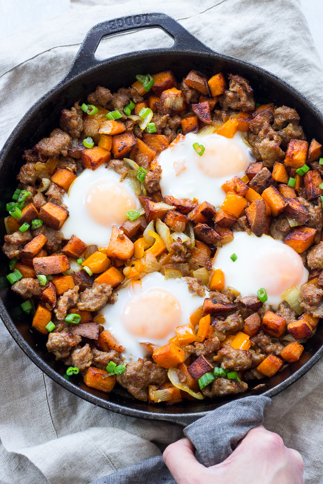Wild Rosebuds | Paleo holiday recipes | Paleo Sweet Potato Hash