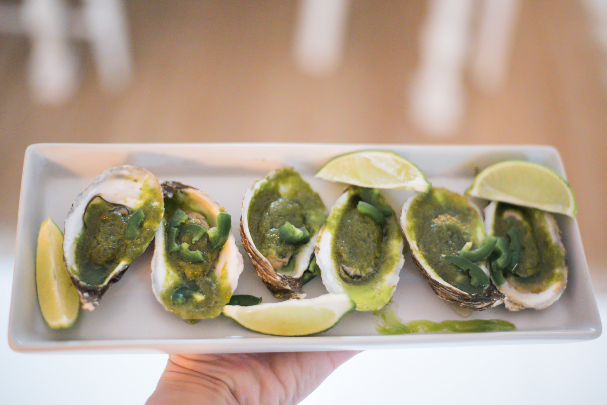 Wild Rosebuds | For the love of getting together with the NSLC | Oysters with a Honey Jalapeno Butter