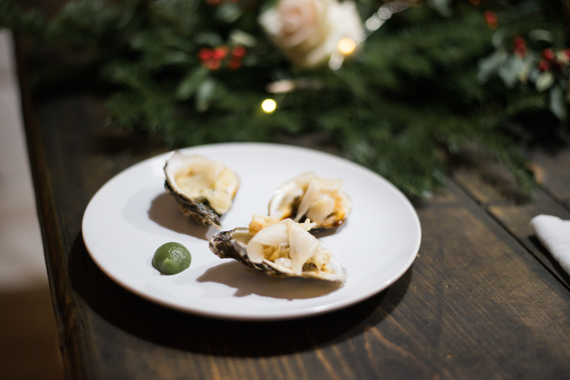 Wild Rosebuds | For the love of getting together with the NSLC | Tempura Oysters with Ponzu and Ginger