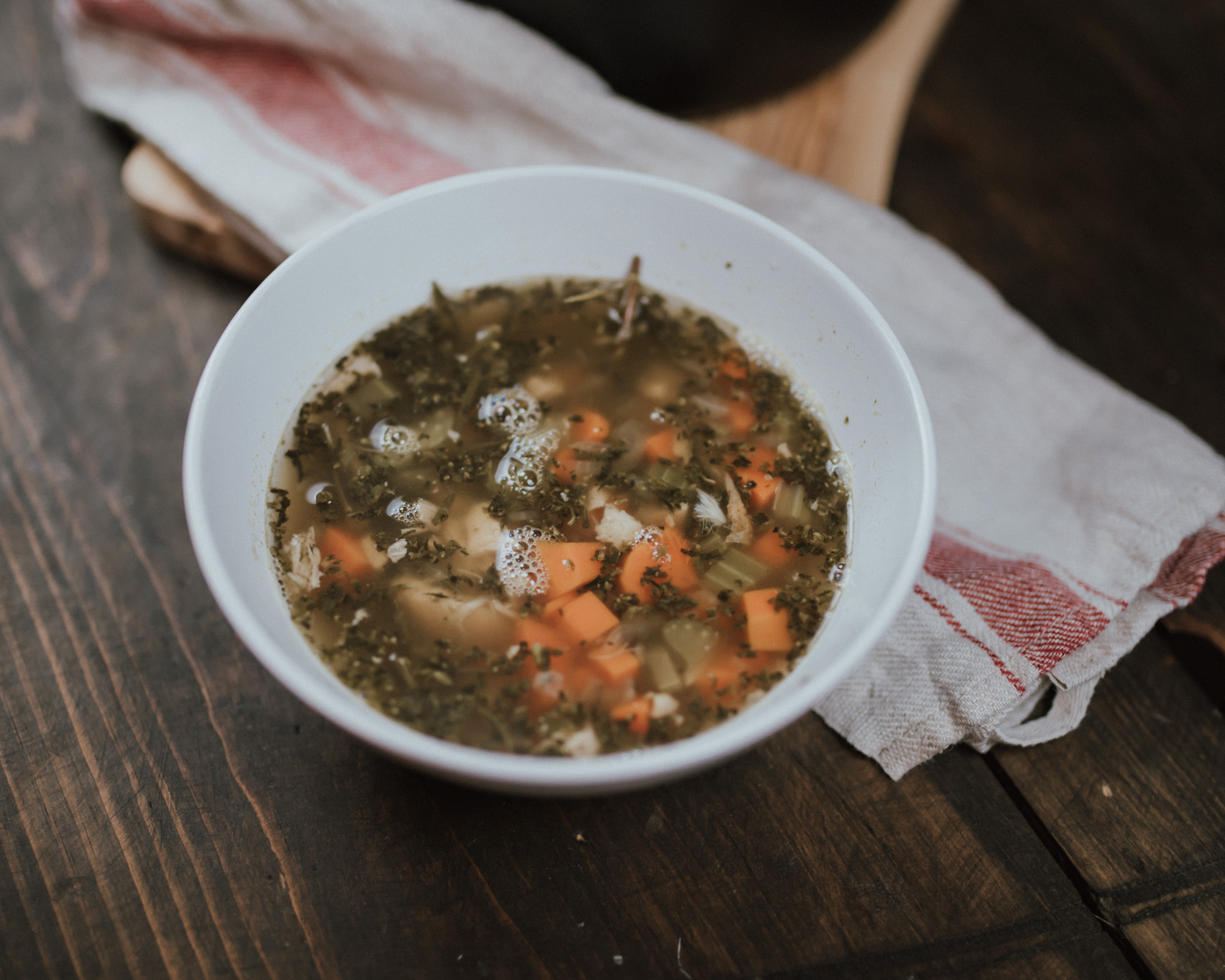 Wild Rosebuds | The Best Turkey Leftover Soup for boxing day