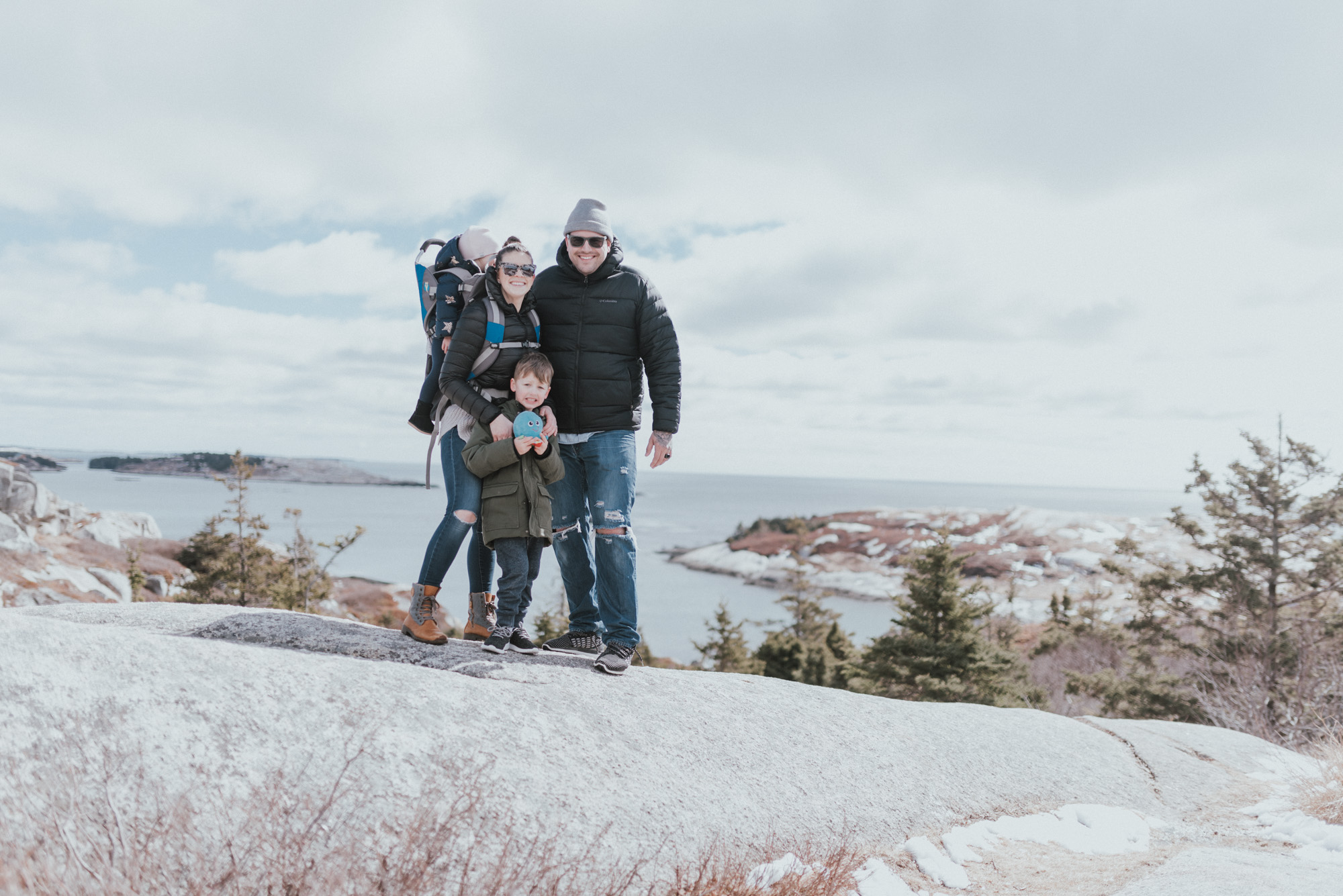 The Wild Decoelis | Oceanstone Resort | March Break with the whole family | Hiking Polly Cove Rock