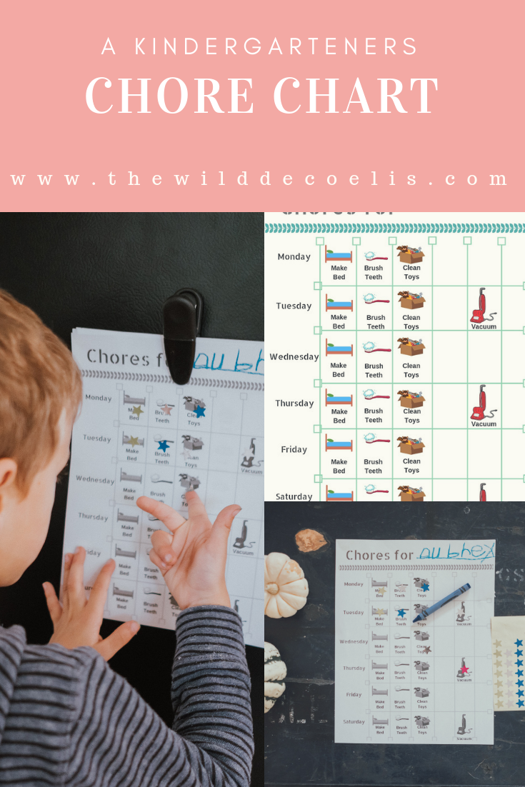 The Wild Decoelis | Starting a Chore Chart With Your Kindergardener | free pdf