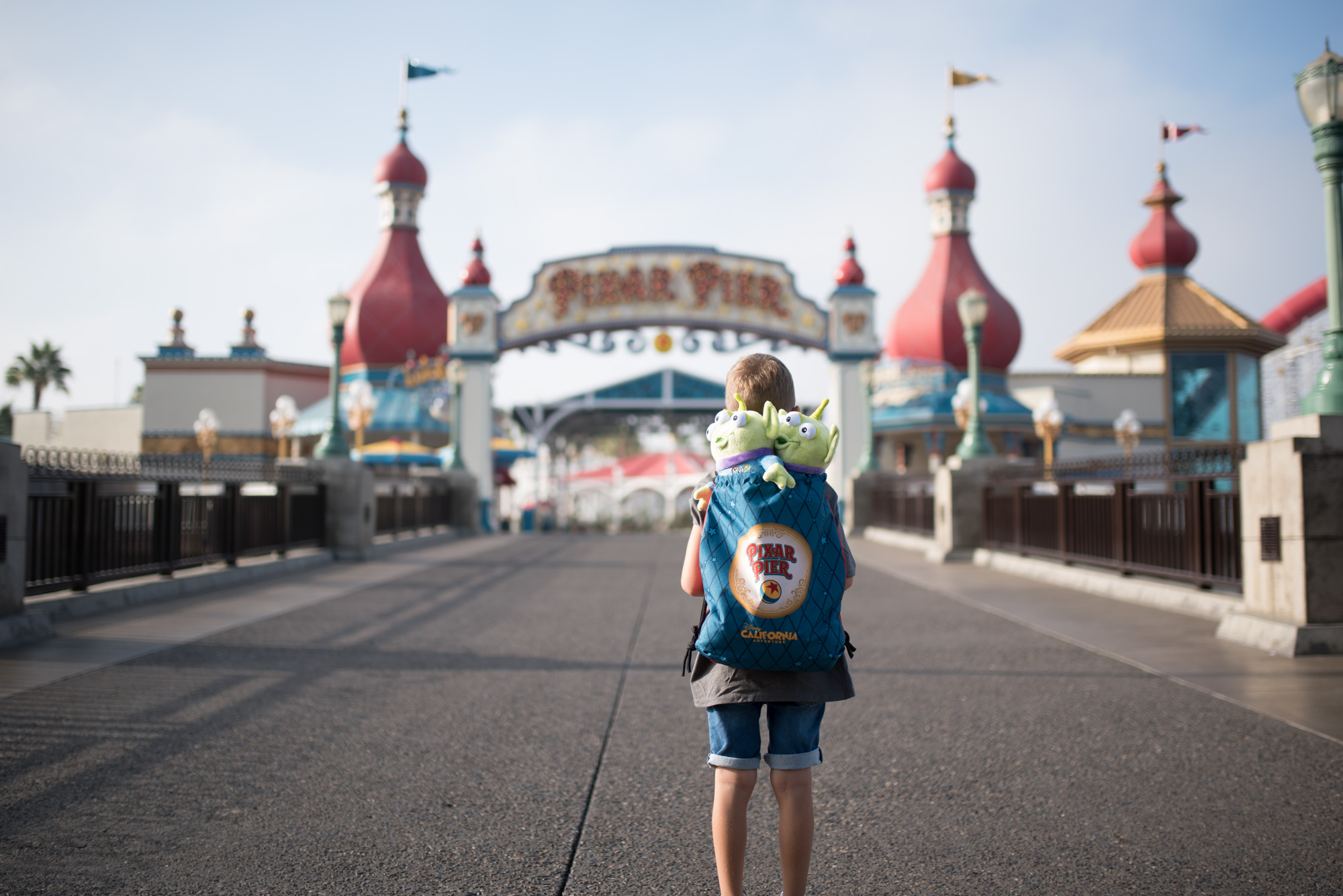 10 Things To know When Travelling To DisneyLand with Young Kids | Pixar pier entrance
