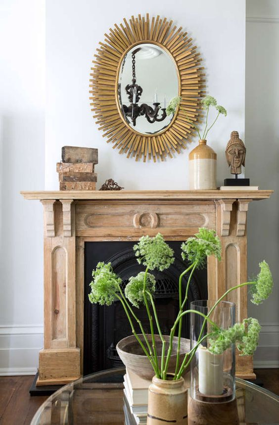 The Wild Decoelis | Taking a Fireplace Mantle From dark Antique Stain to Whitewashed | our goal