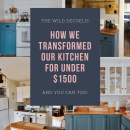 The Wild Decoelis | How We Transformed Our Kitchen For Under $1500