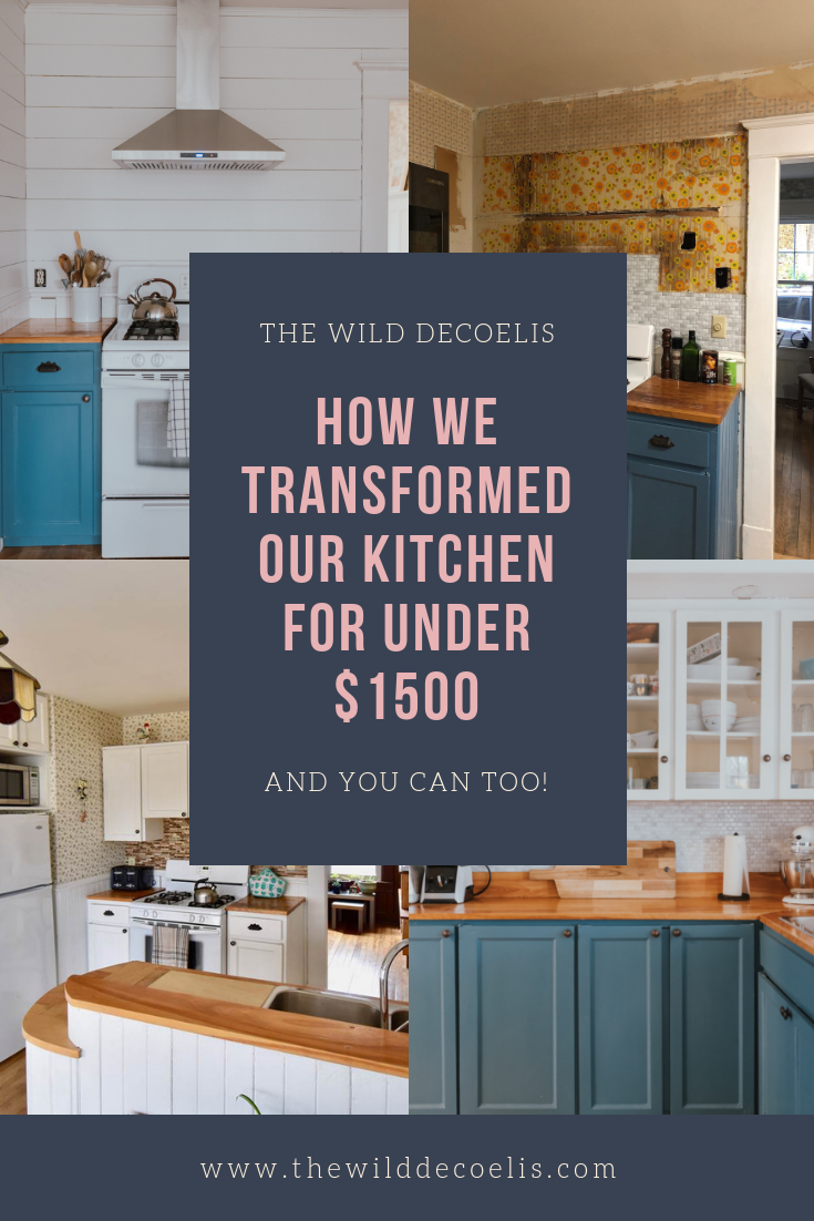 How We Transformed Our Kitchen For Under $1500.