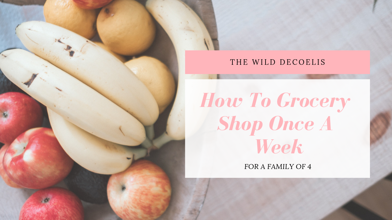 The Wild Decoelis | HOW TO GROCERY SHOP FOR A FAMILY OF 4 ONCE A WEEK