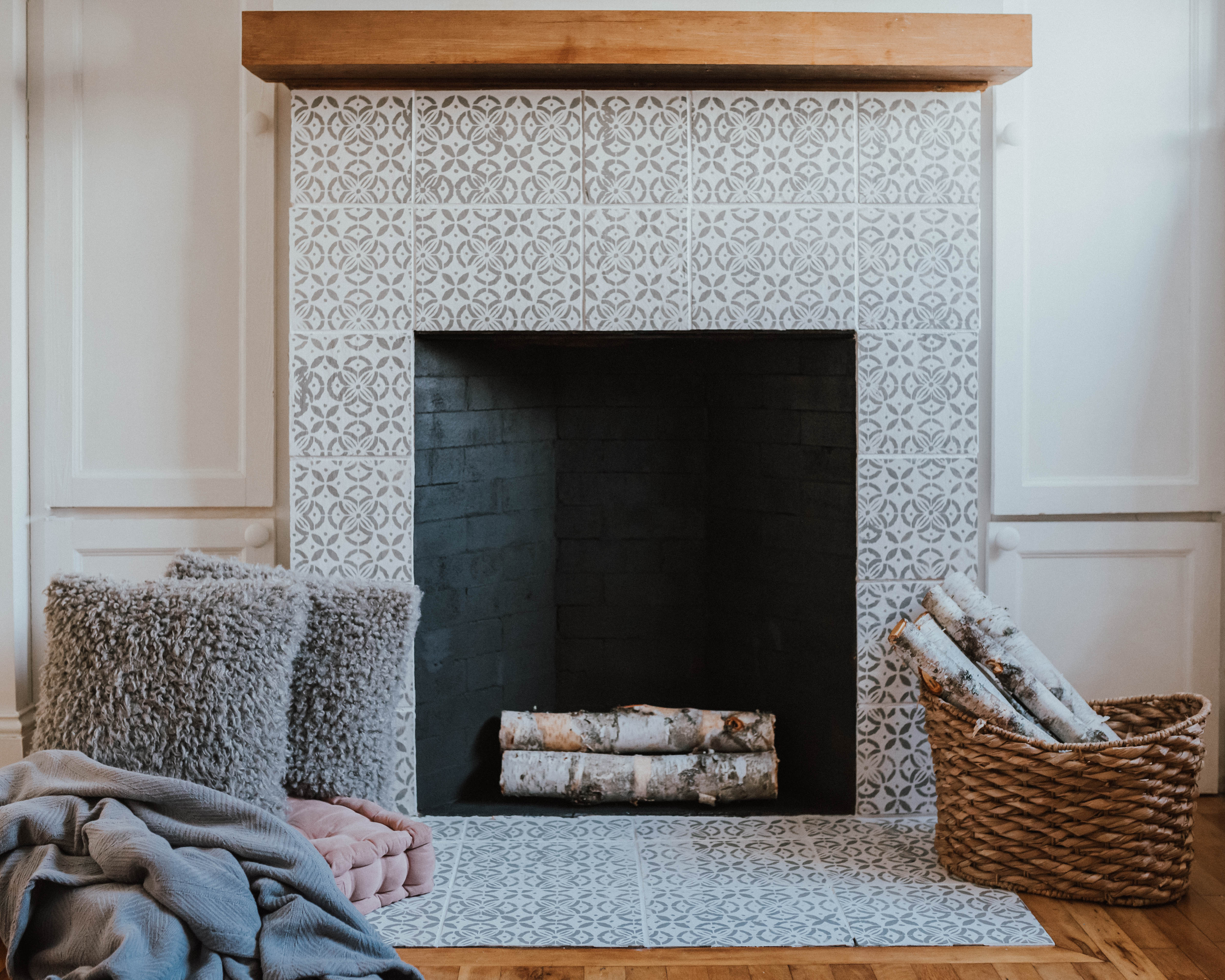 My $100 Fireplace Makeover with Behr Paint | The Wild Decoelis