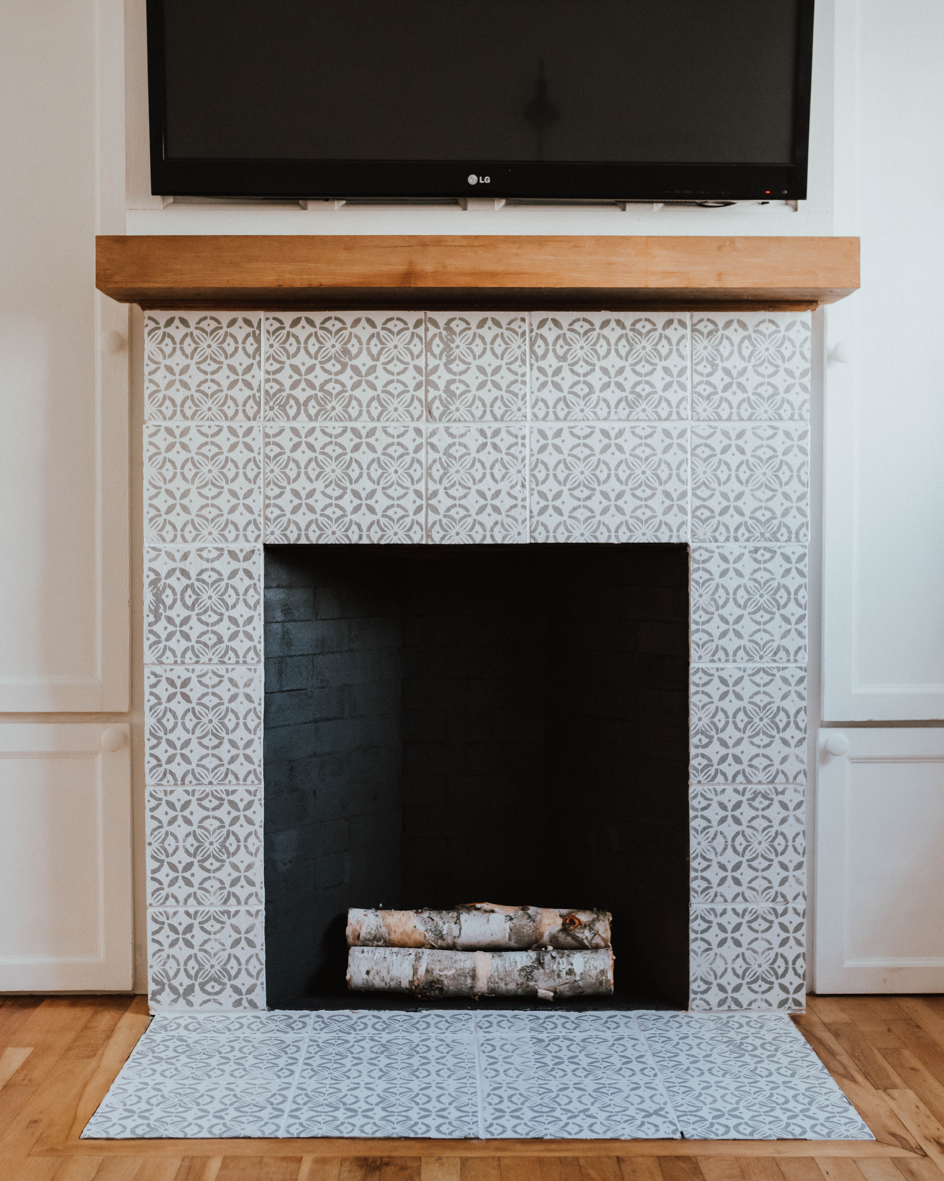 My $100 Fireplace Makeover with Behr Paint | The Wild Decoelis | after using Behr paint