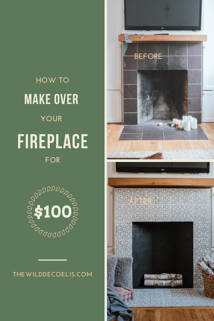 My $100 Fireplace Makeover with Behr Paint | The Wild Decoelis | DIY fireplace makeover