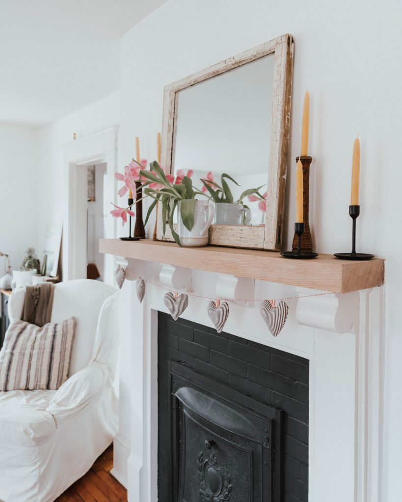 The Wild Decoelis | stunning yet super simple Valentines day mantle
