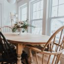 The Wild Decoelis   How To Refinish an Antique Dining Set   white finishing wax