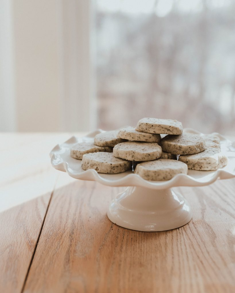 The Best and Easiest Earl Grey Shortbread Cookies, made in a food processor
