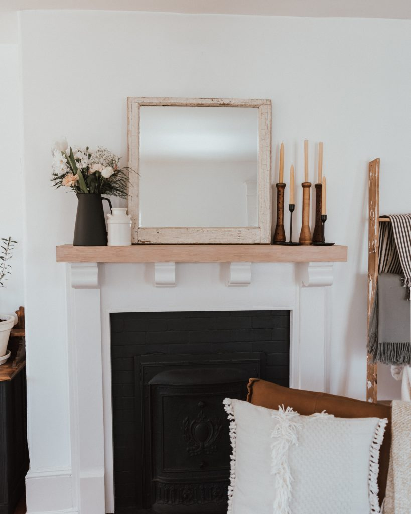 One Room Challenge: Week 2 - Reworking What you have | century home mantle