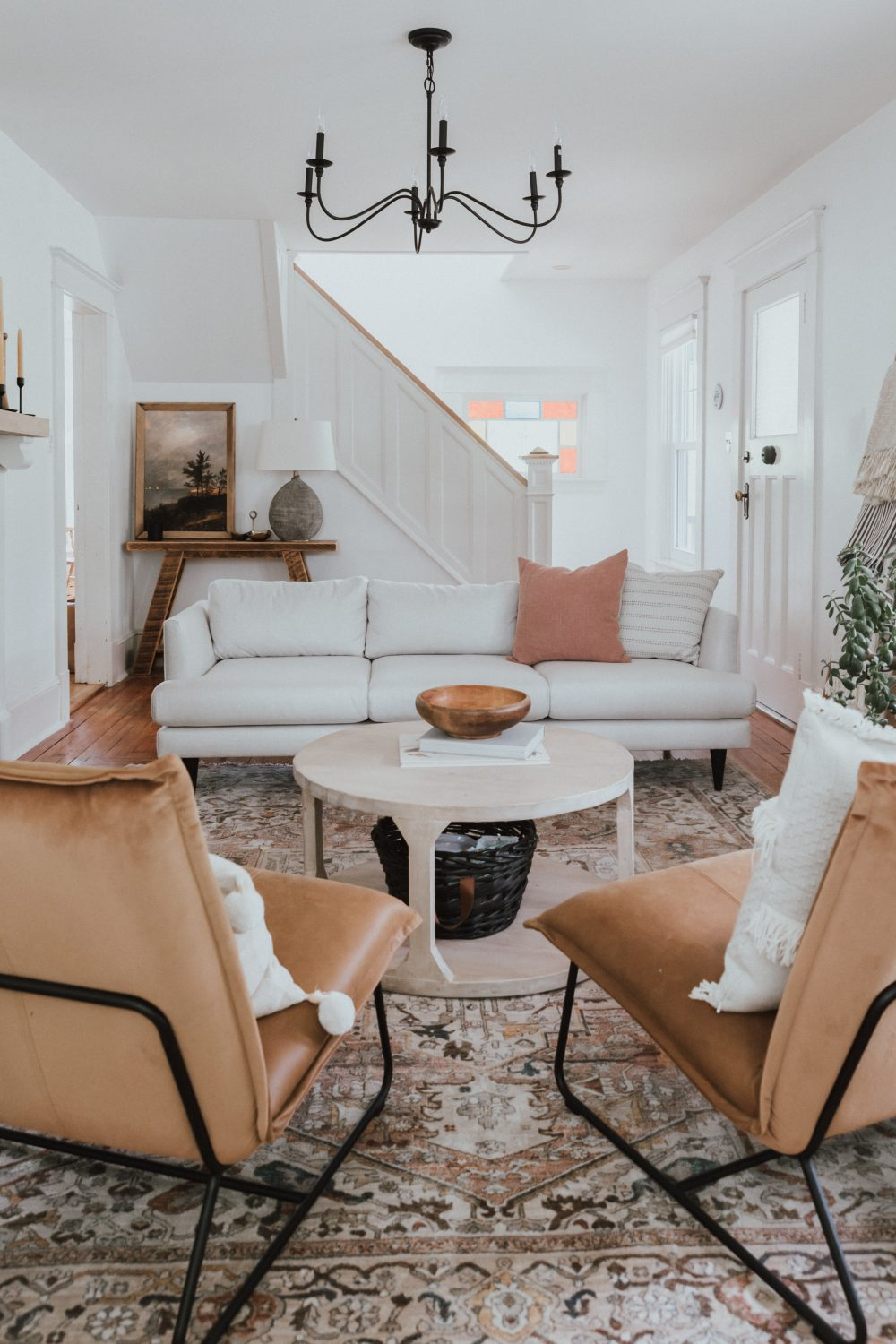 One Room Challenge: Week 6 - A New Couch from Kavuus  Lucia Sofa in Ivory Lace