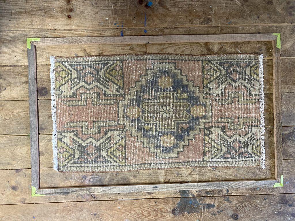 The Wild Decoelis | How To Make A DIY Framed Vintage Rug for under $100 | frame