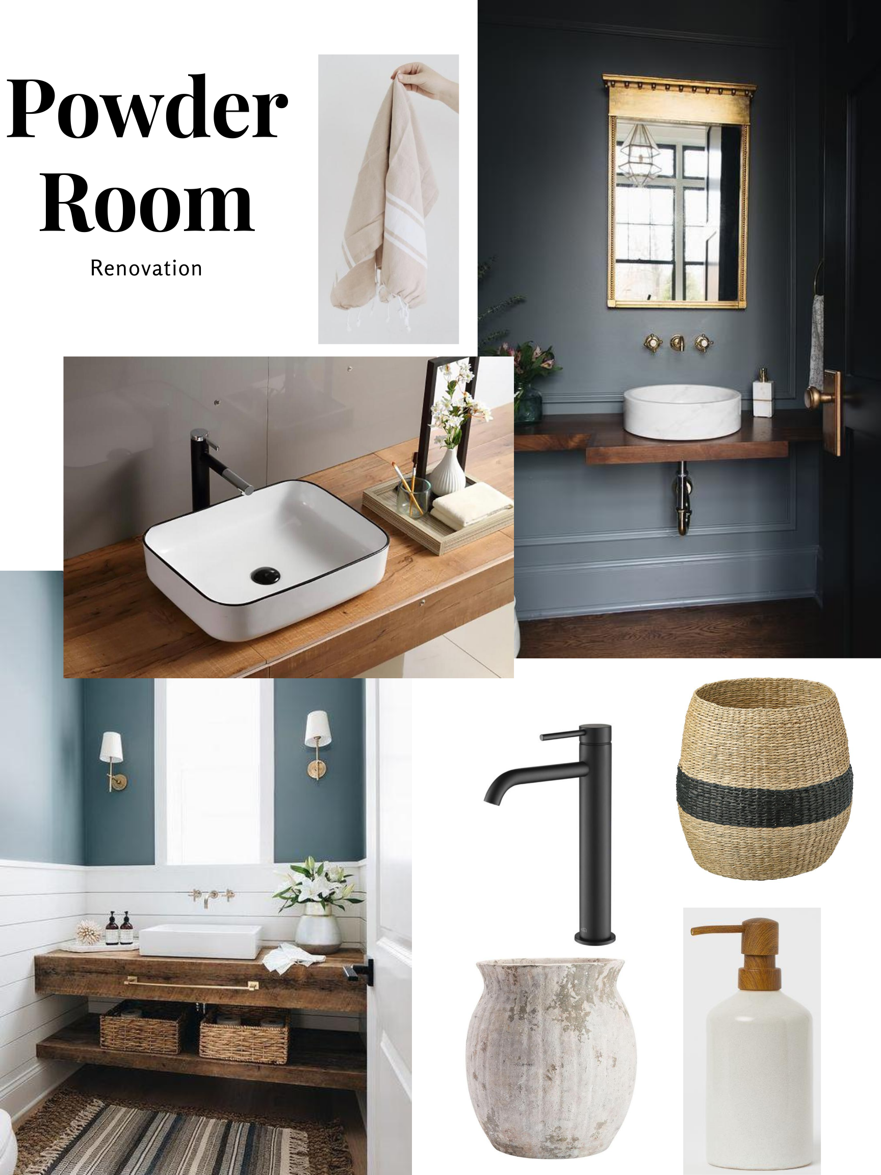 The Wild Decoelis | Powder Room Reno on a budget + Going Bold With The Color | mood board
