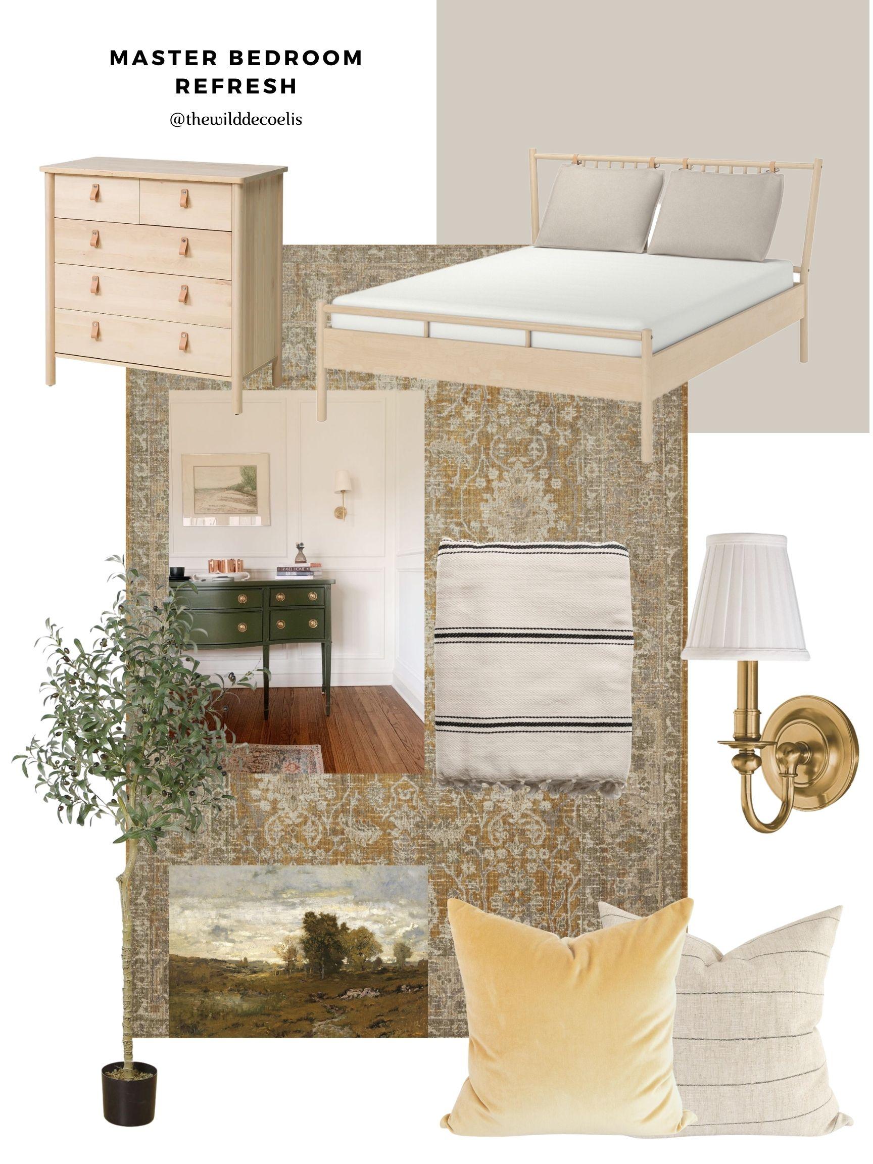the Wild Decoelis | master Bedroom mood Board